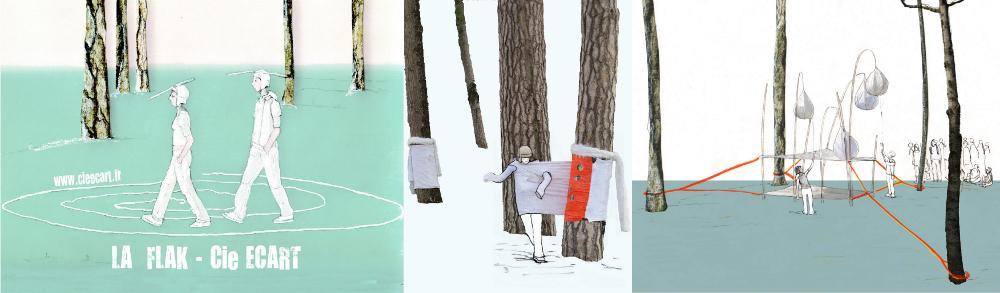 Illustration création La Flak, Cie Ecart